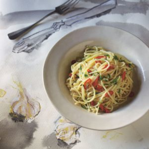 Spaghetti with garlic oil and chilli page 75